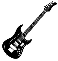 classic electro guitar silhouette vector image