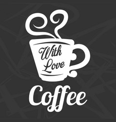 Coffee cup steam icon template for cafe vector