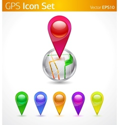 gps icons vector image