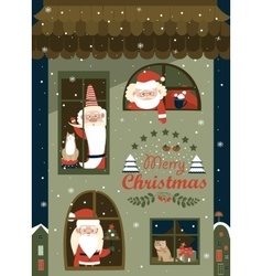 House of Santa Clauses vector image vector image
