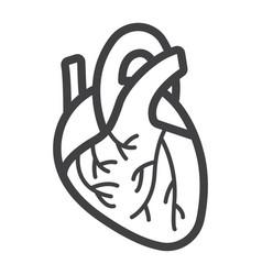 human heart line icon medicine and healthcare vector image vector image