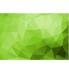 polygon background green vector image vector image