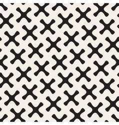 Seamless black and white rounded cross vector