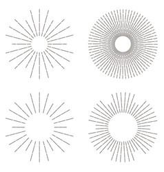 sunburst set sunshine vector image