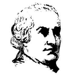 Abraham clark vintage vector