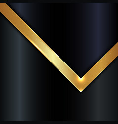 Abstract gold metallic stripes and lighting on vector