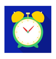 Alarm clock for early wake up to school watch so vector