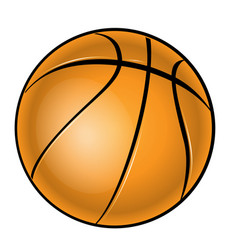 Basketball over white background vector