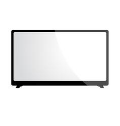 big screen television vector image
