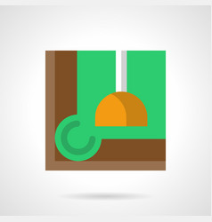 billiard room accessory flat color icon vector image