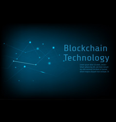 blockchain technology connect together concept vector image