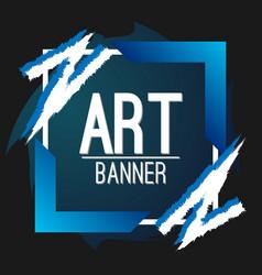 blue stylish art banner vector image