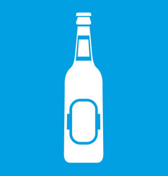 bottle of beer icon white vector image