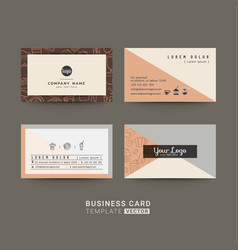 business cards for coffee shop or company vector image