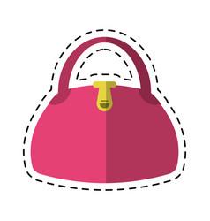 Cartoon woman handbag fashion style vector
