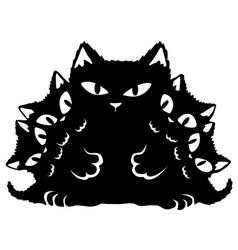 Cat black kitten parent vector