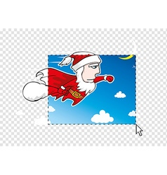 Christmas postcard concept vector image