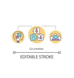 Co creation concept icon vector