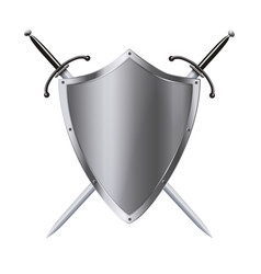 Coat of arms medieval knight shield and sword vector