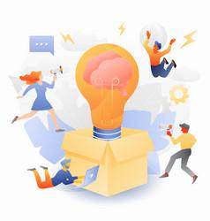 Creative solutions tiny entrepreneurs vector