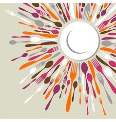 Cutlery restaurant menu vector image