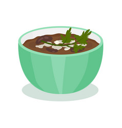 Dal traditional indian cuisine food vector