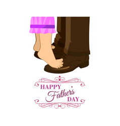 fathers day daughter vector image