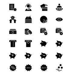 Finance Solid Icons 10 vector image