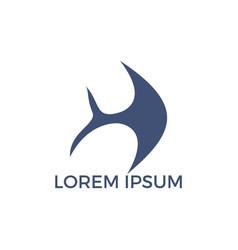 fish logo design vector image