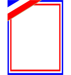 french patriotic frame with corner symbol vector image