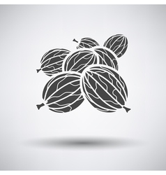 Gooseberry icon on gray background vector