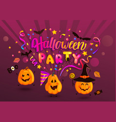 halloween party greeting banner for kids vector image