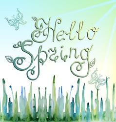 Hello spring vector image vector image