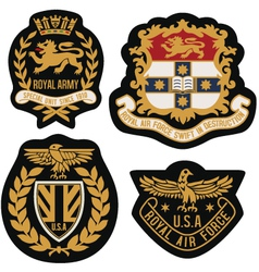 heraldic emblem badge shield vector image vector image