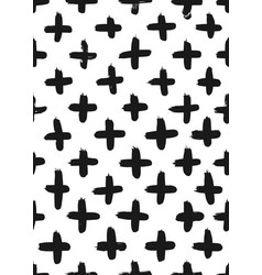 ink abstract cross seamless pattern background vector image