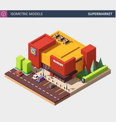 isometric of a supermarket vector image