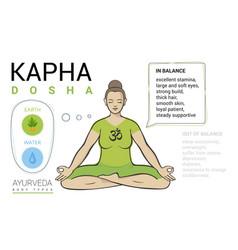 kapha dosha - ayurvedic body type vector image