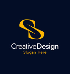 letter s creative business modern logo vector image