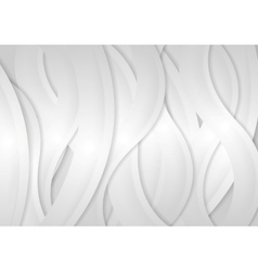 Light grey abstract wavy background vector