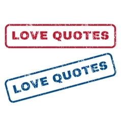 Love quotes rubber stamps vector