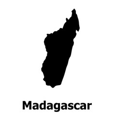 madagascar map icon simple style vector image