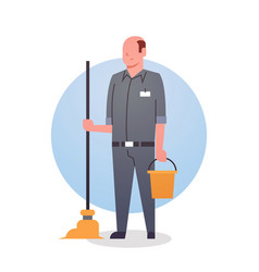 Man cleaner icon cleaning service worker vector
