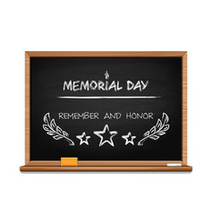 memorial day concept design with hand lettering vector image