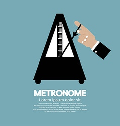 Metronome For Music Practicing vector image
