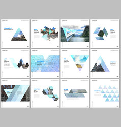minimal brochure templates with triangular design vector image