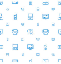 monitor icons pattern seamless white background vector image