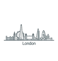 Outline London banner vector image