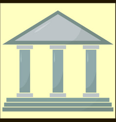 Part acropolis on white background vector