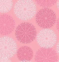 pattern pink circular ornament vector image