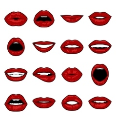 Pop Art lips vector image